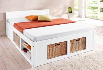 erfahrung stauraumbett helsinki 140x200 cm weiss im gro en vergleich 2017. Black Bedroom Furniture Sets. Home Design Ideas